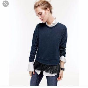 J.Crew Fringe Sweatshirt